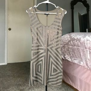 Express Dress, Brown with Sequins size XS